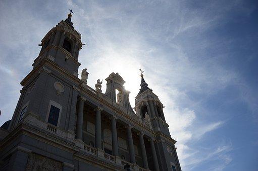 Palacio Real, Madrid, Ancient, Sky, Monument