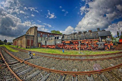 Gelsenkirchen, Ring Lokschuppen, Dampflok Railroad