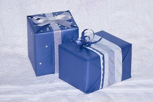 Blue, Gift, Present, Love, Friend, Couple, Together