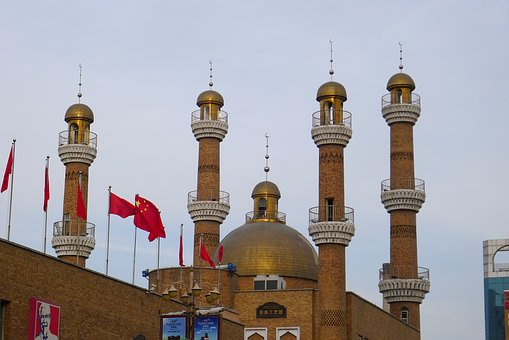 In Xinjiang, Urumqi, Grand Bazaar, Tower