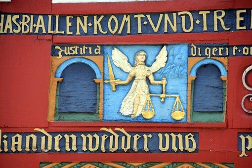 Building, Truss, Facade Figurine, Font, Justice