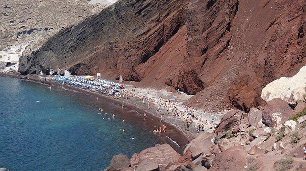 Greece, Sea, Beach, Santorini, Will, View, Seascape