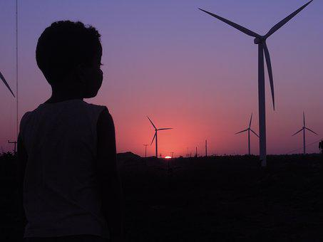 Boy, Wind, Elices, Sunset, Silhouet, Afternoon
