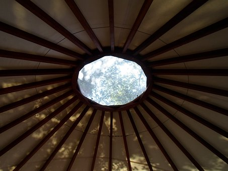 Yurt, Circle, Window, Traditional, Tent, Roofing