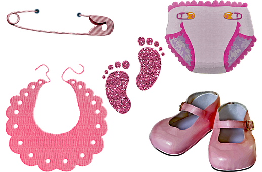 Baby Girl Clothes, Diaper, Baby Shoes