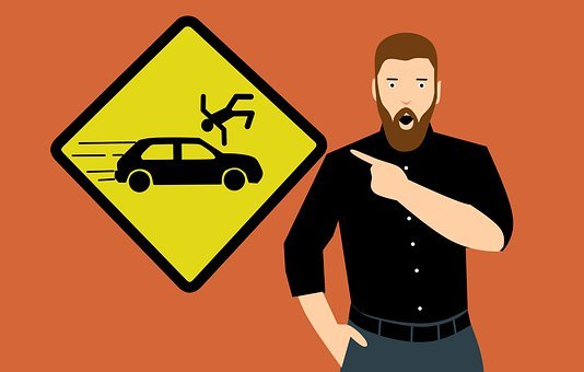 Accident, Car, City, Sign, Automobile, Transportation