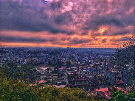 Ktm, Kathmandu, Lightning, Raining, Slums