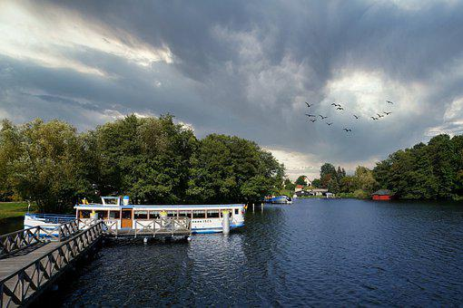 Lake, Water, Vacations, Ship, Passenger Ship, Landscape