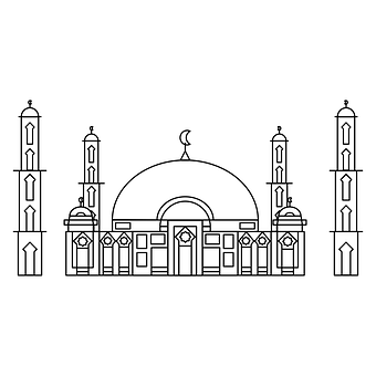 Mosque, Design, Line, Lines, Art, Simple, Islam