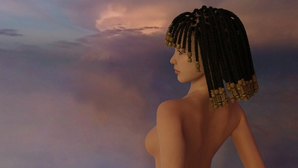 Braids, Topless, Goddess, Egypt, Mythology, Hair