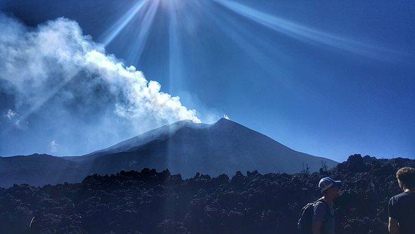 Volcano, Guatemala, Sky, Mountain, Landscape, Nature