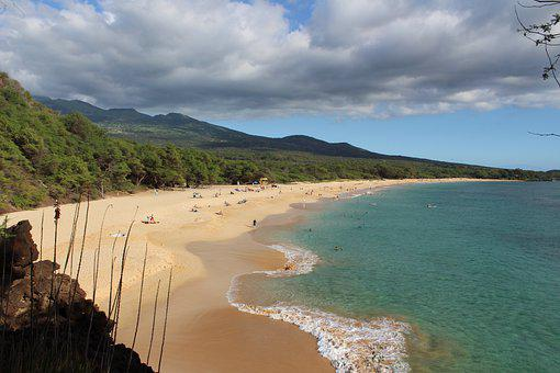 Maui, Hawaii, Makena, Big Beach, Nature, Tropical