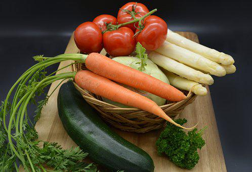 Vegetables, Tomatoes, Zucchini, Carrots, Asparagus