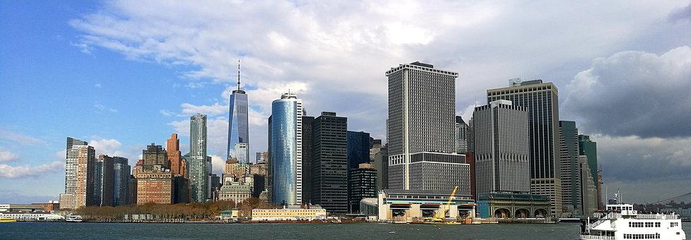 Skyline, City, Architecture, Urban, Manhattan
