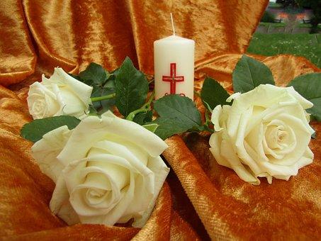 Roses, White, Flowers, Decoration, Easter, Prayer