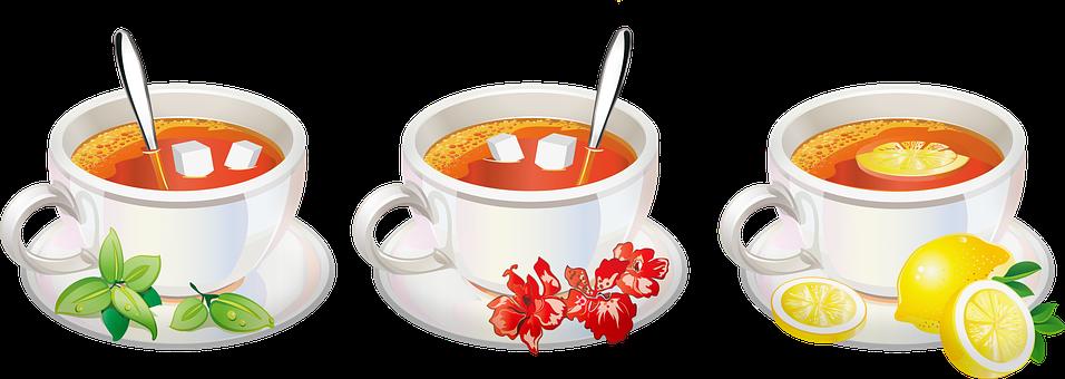 Tea, Lemon, Mint, Black Tea, Herbal Tea, Sugar, Drink