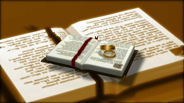Bible, Wedding, Rings, Marriage, Book, Church, Ring