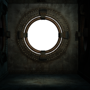 Steampunk, Box, Room, Round, Window