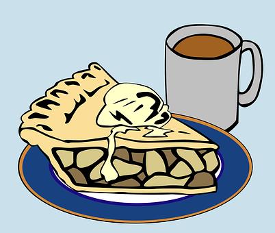 Dessert, Pie, Coffee, A La Mode, Slice
