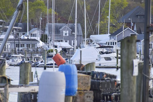 Wickford, Rhode Island, Fishing, Village, Bay, Harbor