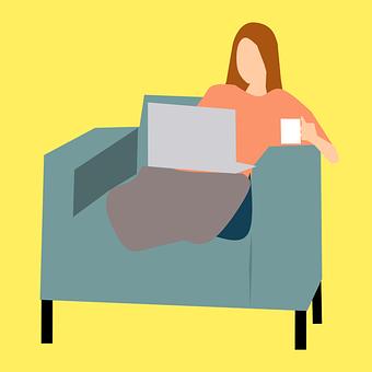 Laptop, Comfortable, Concept, Contemplation