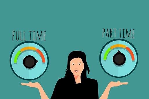 Part Time Job, Full Time Job, Advertisement