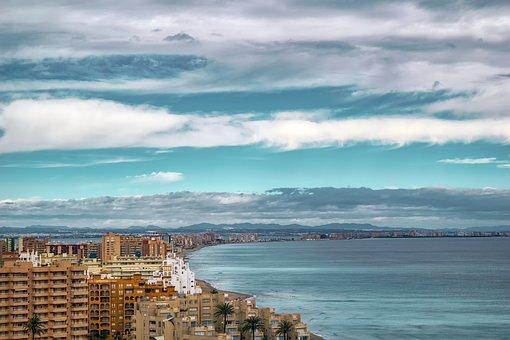 Landscape, People, Sea, Sky, Clouds