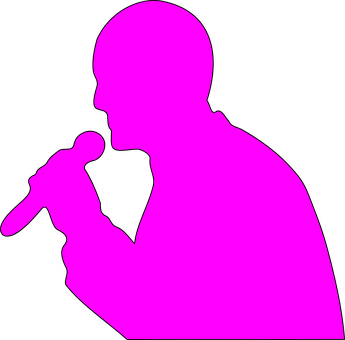 Man, Addresssing, Microphone, Mic, Cordless, Pink