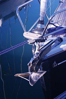 Yacht, Marina, Boat, Bow, Anchor