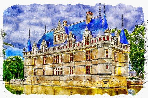 Castle Azay Le Rideau, Chateau Azay Le Rideau