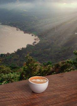 Coffee, Cup, Cappuccino, Hot, Tea, Landscape, Open Air