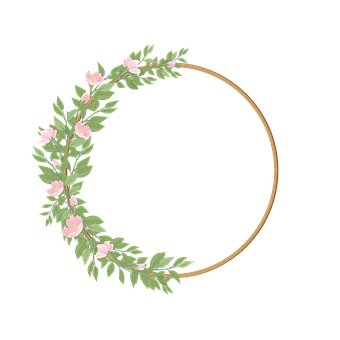 Border, Botanical, Bouquet, Branch, Circle, Decorative