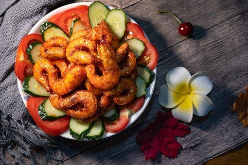Prawns In Tomato Sauce, Shrimp, Gourmet, Chinese