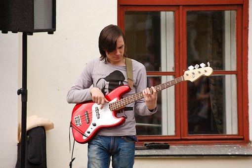 City, Music, Musician, Street Musician, Guitar