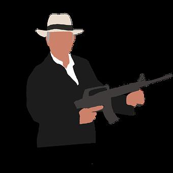 Gangster, Retro Style, Mafia, Organized Crime, Gun, Men