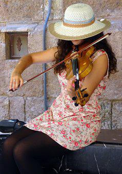 Instrument, Music, Classic, Violin, Street Music, Spain
