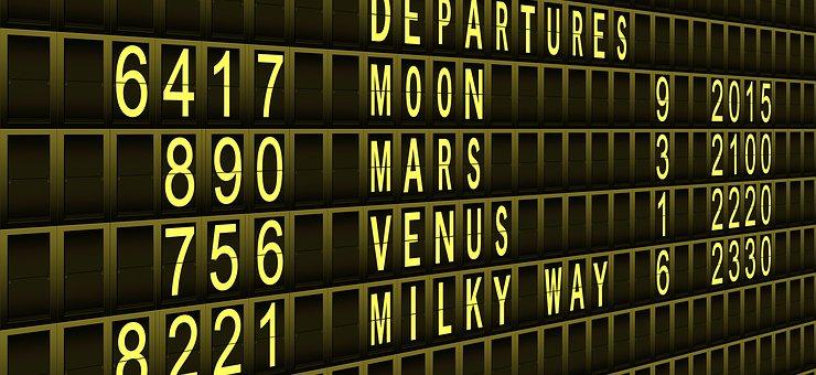 Departure, Timeline, Intergalaktisch, Planet, Mars