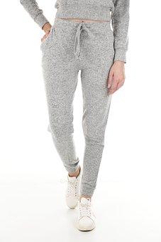 Sweatpants, Pants, Fashion, Clothes, Woman, Girl, Model