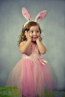 Kid, Happy, Happiness, Child, Easter, Ears, Bunny Ears