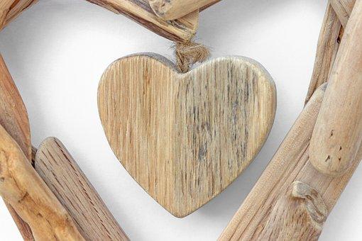 Heart, Symbol, Love, Wooden Heart, Woods, Decoration