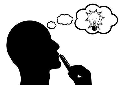 Think, Thinking, Hand, Reflect, Light Bulb