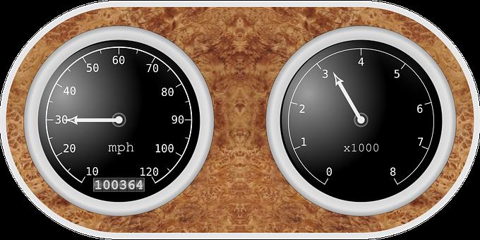 Speedometer, Tachometer, Instruments, Auto, Automobile