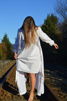 Train, Via, Women, Locomotive, Travel