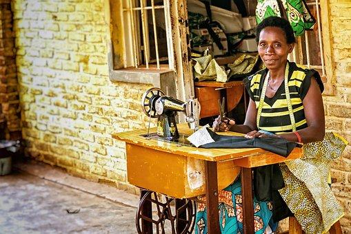Kigali, Rwanda, Africa, Woman, Work, Profession