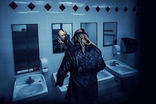 Public Bathroom, Terror, Hidden Camera, Friday 13