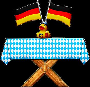 Oktoberfest Table, Oktoberfest Duck, German Flag