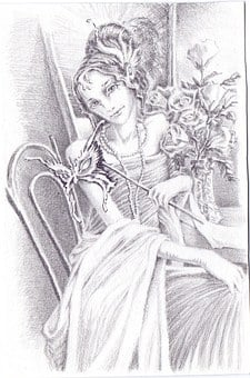 Graphics, Pencil, Girl, Actress, Beauty