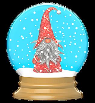 Scandia Gnome, Christmas Globe, Gnome