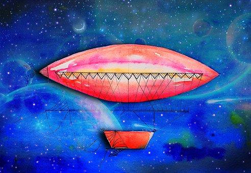 Airships, Flight, Travel, Cosmos, Sky, Fiction, Fantasy