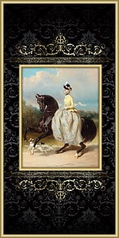 Horse, Woman, Victorian, Equestrian